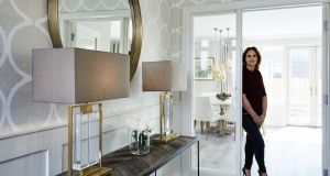 Elaine Jerrard in the showhouse she designed at Clareville in Malahide.