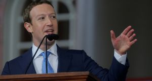 Facebook founder Mark Zuckerberg: dismissive of the idea that social media and artificial intelligence could be used for global domination. Photograph: Brian Snyder/Reuters