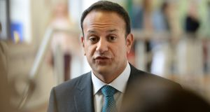 Leo Varadkar: pledged to take student concerns about the timing of a referendum on abortion into account when setting a date for the vote. Photograph: Dara Mac Dónaill