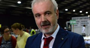 Amnesty executive director Colm O'Gorman urged Ministers to press for a fairer and more effective solution to Europe's refugee crisis. Photograph: Cyril Byrne