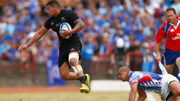 Piutau dodges a tackle during a clash with Samoa in 2015. Photo: Phil Walter/Getty Images