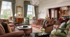 The newly reopened Presidential Suite, The Princess Grace at the Shelbourne