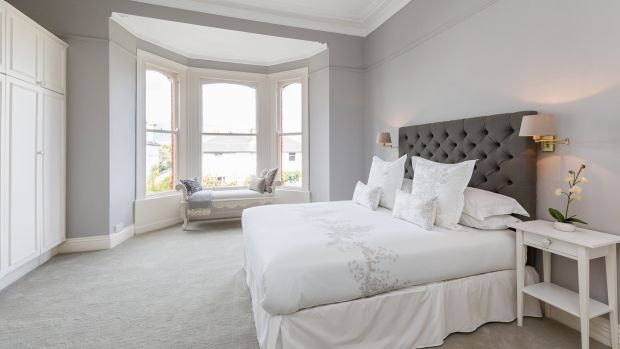 The main bedroom at the front of the house is a large double which has a large bay window and a centre rose, and an ensuite shower room in one corner
