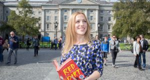 Elizabeth Reapy has been awarded the Rooney Prize for Irish Literature 2017  at Trinity College Dublin today for her debut novel, Red Dirt. Photograph:  Paul Sharp/Sharppix