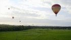 Hot air balloons fill the Galway sky