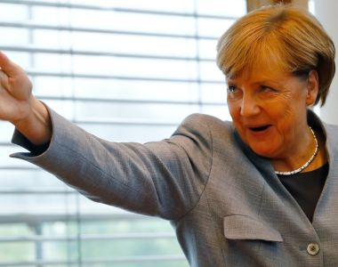 German chancellor Angela Merkel: the AfD is now her biggest challenge. Photograph: Reuters/Kai Pfaffenbach