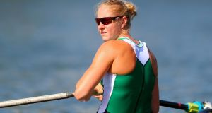 Ireland's Sanita Puspure had the second fastest time in the heats of the single sculls at the World Rowing Championships in Florida. Photograph: James Crombie/Inpho