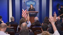 White House press secretary Sarah Sanders says: 'Frankly, the suggestion of that is absurd'. Photograph: AFP/Mandel Ngan