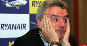 Ryanair chief executive Michael O'Leary has offered financial incentives to the airline's Dublin-based pilots in a bid to prevent them from leaving for rivals. Photograph: Eric Luke