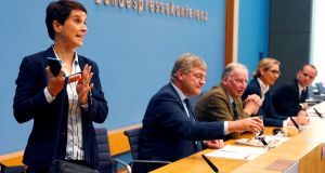 Frauke Petry, who has left the far-right Alternative für Deutschland. Photograph: Fabrizio Bensch/Reuters