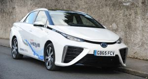 The new hydrogen-powered Toyota Mirai. Photograph: Aidan Crawley