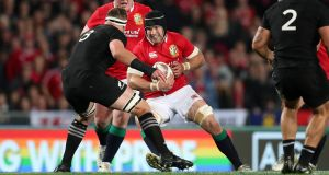 Sean O'Brien in action during the second Test win for the Lions over New Zealand in Wellington. Photograph: Billy Stickland/Inpho