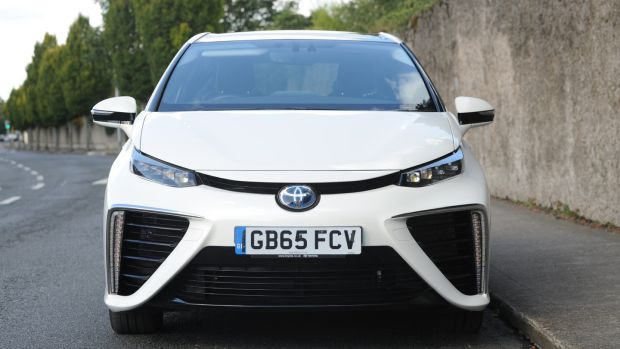 The hydrogen car has three big pluses to commend it. Photograph: Aidan Crawley
