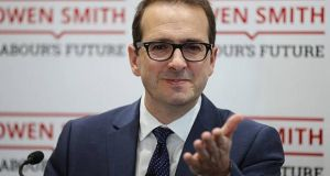 Owen Smith: 'I would even so far as to suggest that they're waiting for the EU to put pressure on the Irish government to say that you will police the Border on the Irish side.' Photograph: Getty