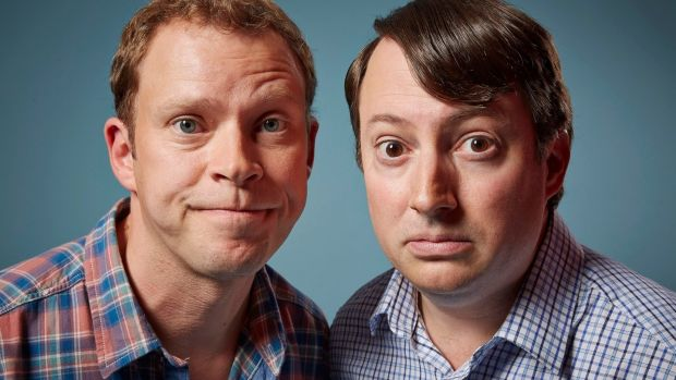 Robert Webb and David Mitchell in Peep Show. The pair are back in a new Channel 4 series, Back.