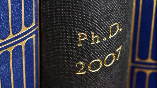 There are almost 9,000 PhD students in Irish third-level institutions. Numbers rose sharply at the start of the economic crash. Photograph: iStock