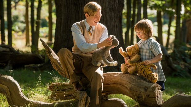 Domhnall Gleeson and Will Tilston in Goodbye Christopher Robin. Photograph: David Appleby