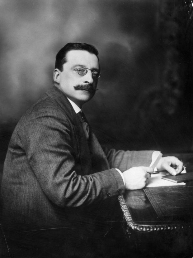 "Arthur Griffith, journalist and founder of Sinn Féin, ""a Napoleonic type, short, stocky, strong, optimistic and not Irish in appearance; a passionate Sinn Féiner and wielding great influence."" Photograph: Hulton Archive/Getty Images"