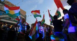Kurds celebrate to show their support for the independence referendum in Duhok, Iraq, September 26th, 2017. Photograph: Ari Jalal/Reuters