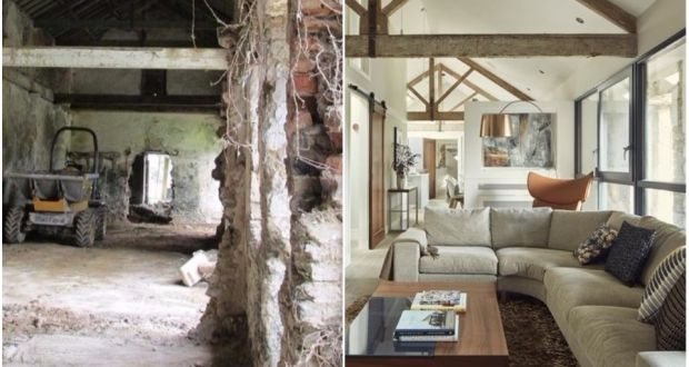 Coach house transformation - before and after