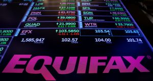 Three Equifax executives  sold $1.8 million in company shares in the days after the breach was discovered. Photograph:  Lucas Jackson/Reuters