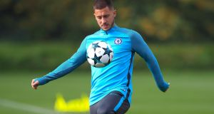 Eden Hazard: expected to feature for Chelsea in the Champions League tie away to Atlético Madrid at the  Estadio Metropolitano.   Photograph:  John Walton/PA Wire