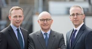 PMM executives Gareth Williams, Mike Weston and Domhnall Gaffney