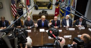 Corporation tax: President Trump has discussed his plans with members of Congress. Photograph: Zach Gibson/Bloomberg