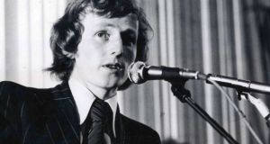 Enda Kenny at the 1976 Fine Gael ardfheis.  Photograph: Peter Thursfield/The Irish Times