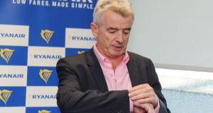 Ryanair chief executive Michael O'Leary. The company said it expected its guidance for profit after tax would stay unchanged at between €1.4 billion and €1.45 billion. Photograph:  Aidan Crawley/Bloomberg