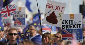 Brexit: a steaming pile of poo. Photograph: Daniel Leal-Olivas / AFP / Getty