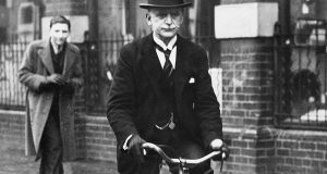 Alfie Byrne on his bicycle – a familiar sight for generations of Dubliners