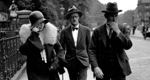 Nora Barnacle with James Joyce just after their marriage, in 1931: their relationship is much commented on. Photograph: Popperfoto/Getty