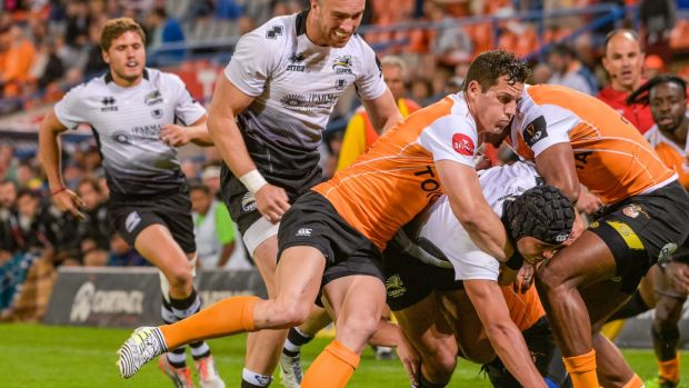 Almost 14,000 people attended the Cheetahs first home Pro14 match against Zebre in Bloemfontein. Photograph: Frikkie Kapp/Inpho