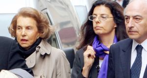 Shot taken in Paris in July, 2007, of   Liliane Bettencourt and her daughter Francoise Bettencourt-Meyers. File photograph: Patrick Kovarik/AFP/Getty Images)