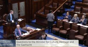 Taoiseach Leo Varadkar and Sinn Fein deputy leader Mary Lou McDonald clashed in the Dail over the NI Executive. Image: Oireachtas TV