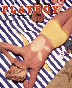 The front cover of the July 1955 edition of Playboy.  Photograph: Playboy/PA Wire