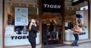 A Tiger outlet on Nassau Street, Dublin. Photograph: Eric Luke
