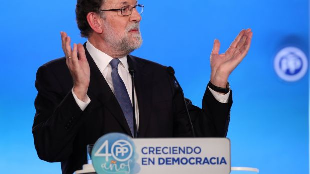 Spanish prime minister Mariano Rajoy. He and his conservative Popular Party (PP) government say the referendum is illegal. Photograph: Albert Gea/Reuters