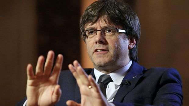 There have been reports that if the referendum is blocked, Catalan president Carles Puigdemont will consider issuing a unilateral declaration of independence next week. Photograph: Pau Barrena/Bloomberg via Getty Images