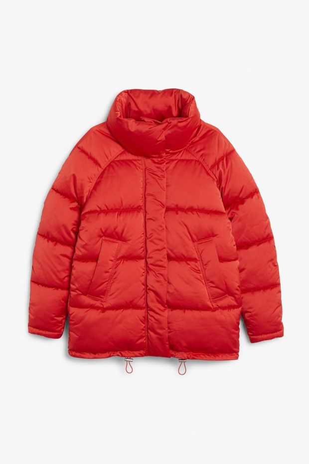 Puffer jacket, €70 from Monki.com