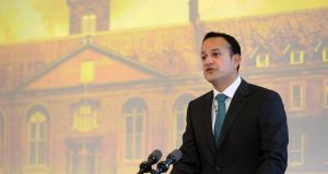 Taoiseach Leo Varadkar at the Royal Hospital Kilmainham, Dublin. Mr Varadkar has announced plans for seven referendums. Photograph: Dara Mac Dónaill/The Irish Times