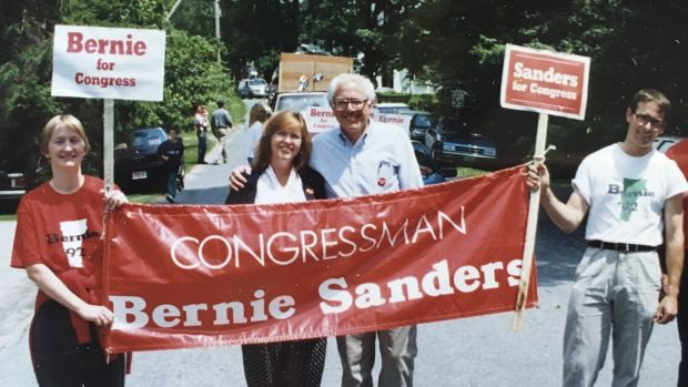 Political couple: Jane and Bernie Sanders campaigning in 1992. Photograph: Bernie Sanders Campaign