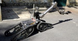 A file image of a demining robot in France. File photograph: Jacques Demarthon/AFP/Getty Images