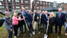 Turning of the sod  in June 2016 for the regeneration scheme for Dominick Street flats in Dublin. The project is running more than a year behind schedule.   Photograph: Dara Mac Dónaill