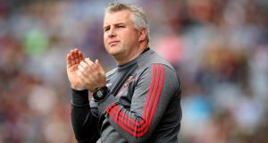 Stephen Rochford: is expected to confirm he will remain with Mayo for a third year. Photograph: Tommy Dickson/Inpho