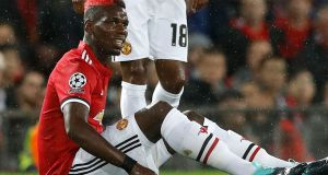 Jose Mourinho says Manchester United have the midfield strength to cope without Paul Pogba. Photograph: PA