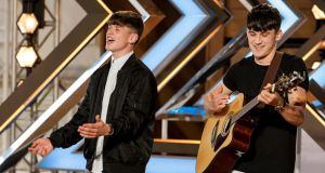 Conor and  Sean Price on The X Factor.  Photograph:  PA