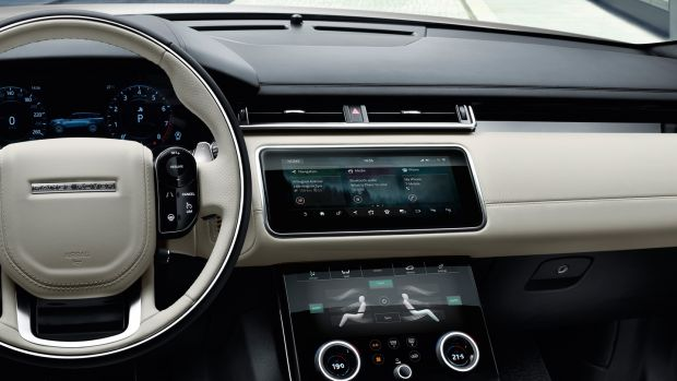 Inside, the Velar looks very luxurious and futuristic
