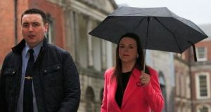 Garda whistleblower Keith Harrison and Marissa Simms arriving at the Charleton Tribunal in Dublin Castle earlier this week. Photograph: Gareth Chaney/Collins